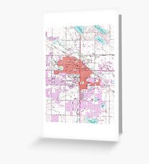 Vintage Map of Fort Collins Colorado (1960) Greeting Card