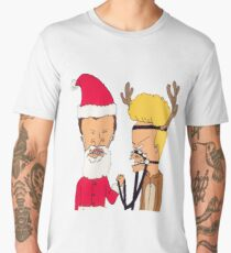 BEAVIS AND BUTTHEAD CHRISTMAS COSTUME Men's Premium T-Shirt
