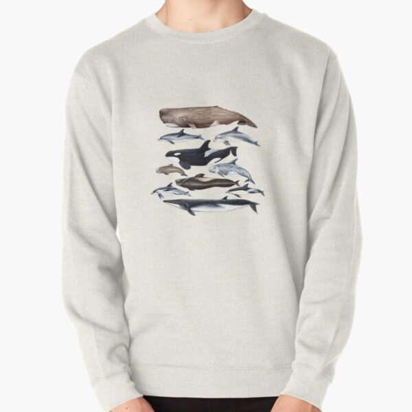 Whales, dolphins, orca and sperm whale Pullover Sweatshirt