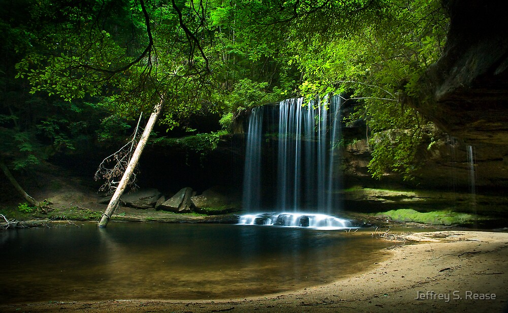 Upper Caney Creek Falls by Jeffrey S. Rease