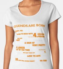 Legends are born in March T Shirt Cancer Pride Birthday Gift Women's Premium T-Shirt