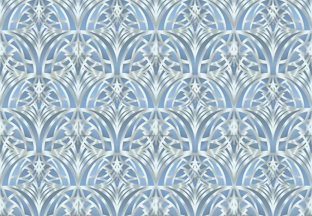 Light blue art deco by artlovepassion