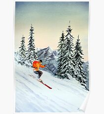 Skiing - The Clear Leader Poster