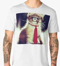 Cute Executive Cat Men's Premium T-Shirt