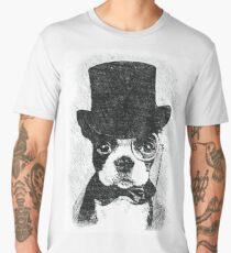 Cute Vintage Dog Wearing Glasses Men's Premium T-Shirt