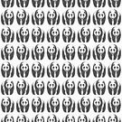 Panda pattern in black and white by John Grundeken