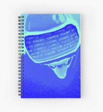 Cyberbully Blue Screen Of Death Spiral Notebook
