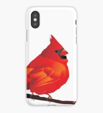 Orange Red Cartoon Bird in White Background iPhone Case/Skin