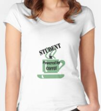 Student - powered by coffee Women's Fitted Scoop T-Shirt