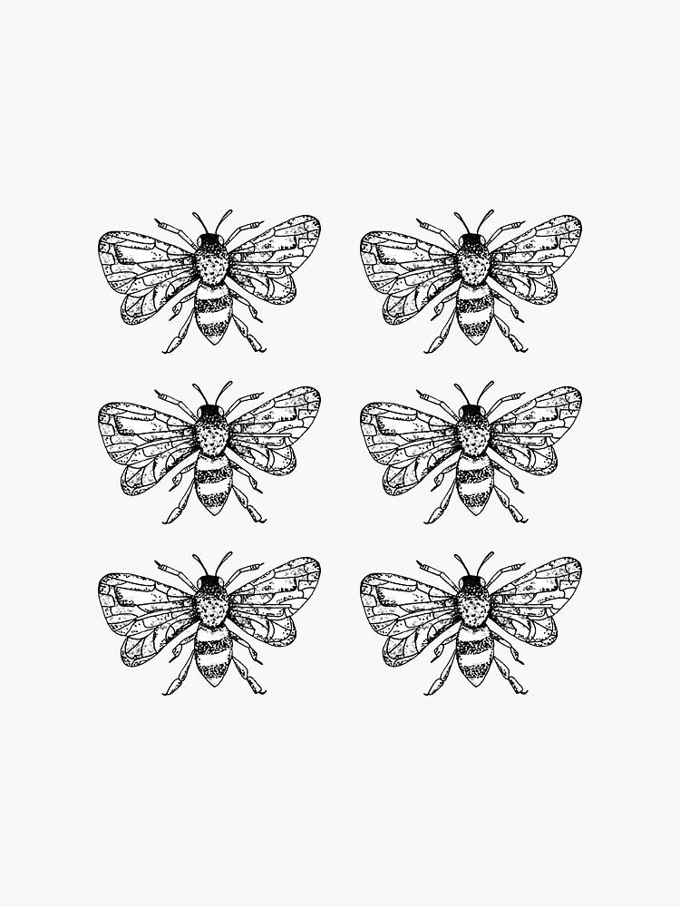 Honey Bee Sticker Packung mit 6 Stück von 11BennettTem