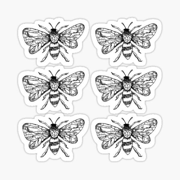 Honey Bee Sticker Pack of 6 Sticker