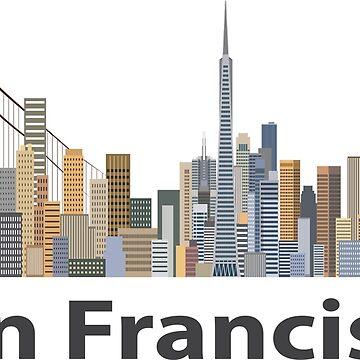 Skyline of San Francisco by sgnakbud
