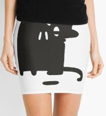 Cat Looking at a Thing Mini Skirt