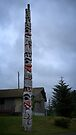 Mother Bear Pole - Old Masset by Yukondick