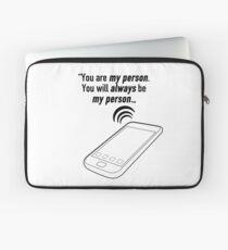 Du bist meine Person. Du wirst immer meine Person sein. Laptoptasche