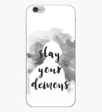 Bellamy Blake Slay Your Demons Charity - Grey iPhone Case