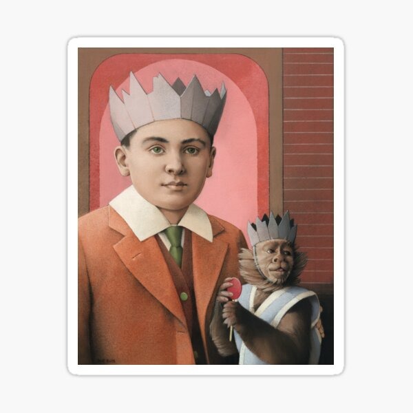 Boy With a Monkey (Master and Slave) Sticker