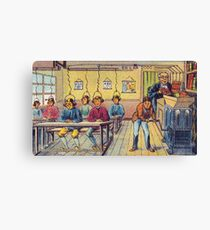 Vintage Art: School in the Future Canvas Print