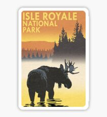 Isle Royale National Park Travel Decal Sticker - Michigan, USA Sticker