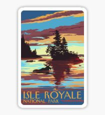 Isle Royale National Park Michigan Travel Decal Sticker Sticker