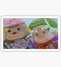 clown dolls colourful Sticker