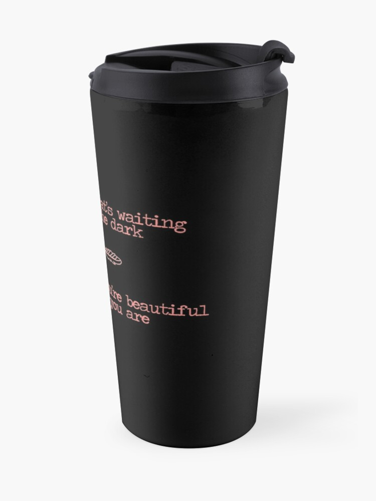 Scars To Your Beautiful Lyrics Travel Mug By Annylands Redbubble