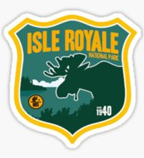 Isle Royale National Park Michigan Badge Travel Decal Sticker
