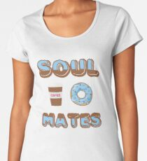 Soul Mates Coffee and Donut T-Shirt Women's Premium T-Shirt