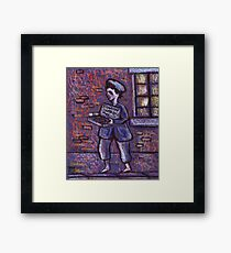 The matchseller Framed Print
