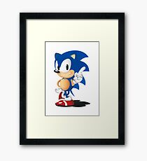 Sonic The Hedgehog Classic Framed Print