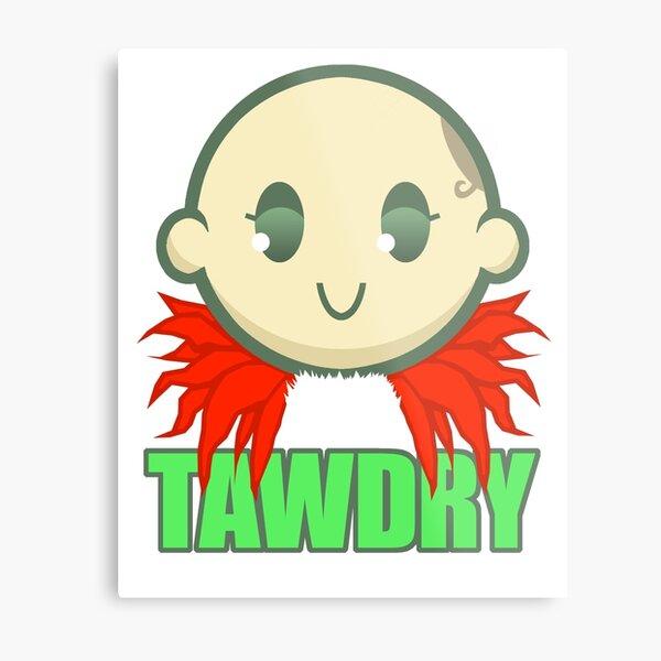 Chibi Tawdry Girl Metal Print