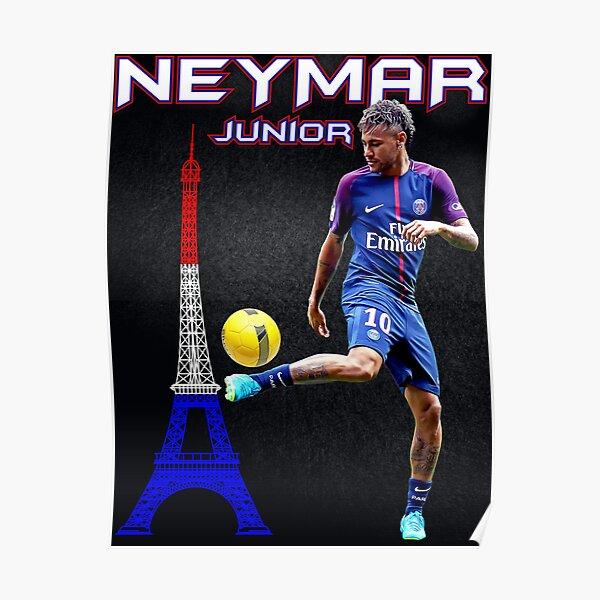 Neymar Junior Paris Poster