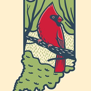 Indiana Cardinal by BlueAsterStudio