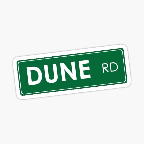 Dune Road Sticker