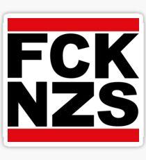 FCK NZS - Anti Nazi Design White Sticker