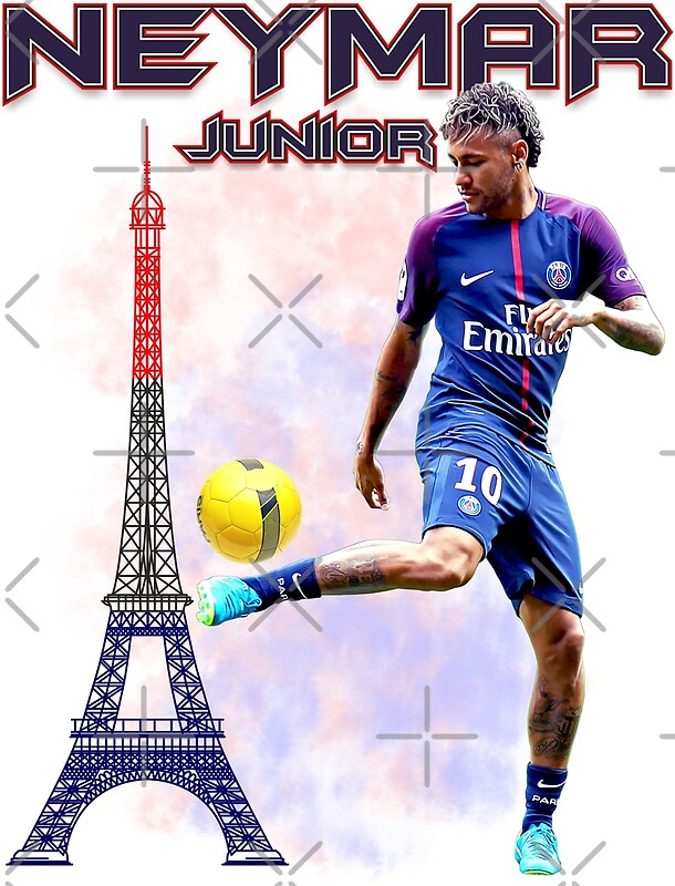 neymar jr paris tshirt posters by andsao redbubble. Black Bedroom Furniture Sets. Home Design Ideas