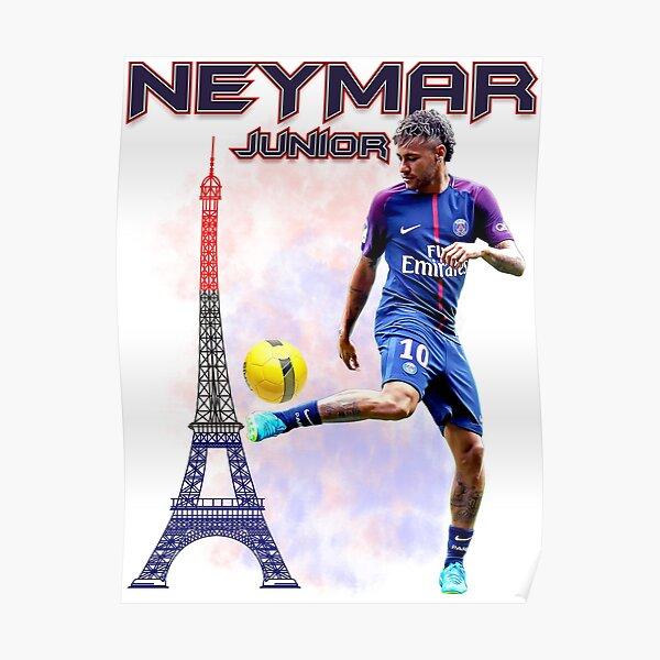 Neymar Jr Paris Tshirt Poster