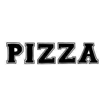 Letras 'PIZZA' de bloemsgallery
