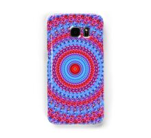 Blue and red pattern rings Mandala