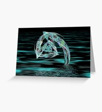 Playful dolphins Greeting Card
