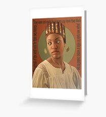 Headdress Greeting Card