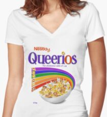 Queerios Women's Fitted V-Neck T-Shirt