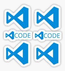 visual studio code x6 Sticker