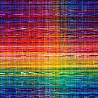 Rainbow seamless rustique fabric pattern by Bruno Beach