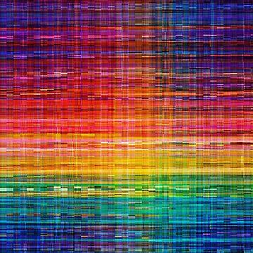 Rainbow seamless rustique fabric pattern by BrunoBeach