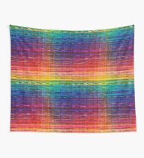 Rainbow seamless rustique fabric pattern Wall Tapestry