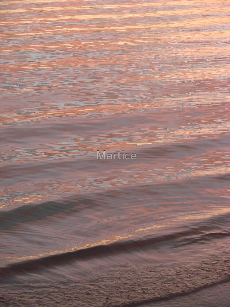 Pinkish Sunset Ripples by Martice