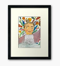 Woman in Florals Framed Print