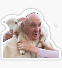 Pope Francis and Goat Sticker