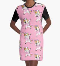 Abtupfendes Einhorn-Hemd Hip Hop Dap Pose T-Shirt Kleid